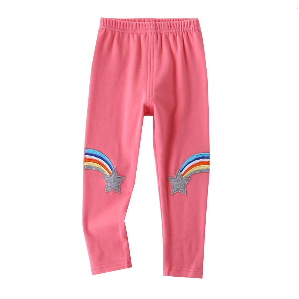 Lurryly Boys Girls Rainbow Printed Casual Long Pants Toddler Kid Trousers 2-6T