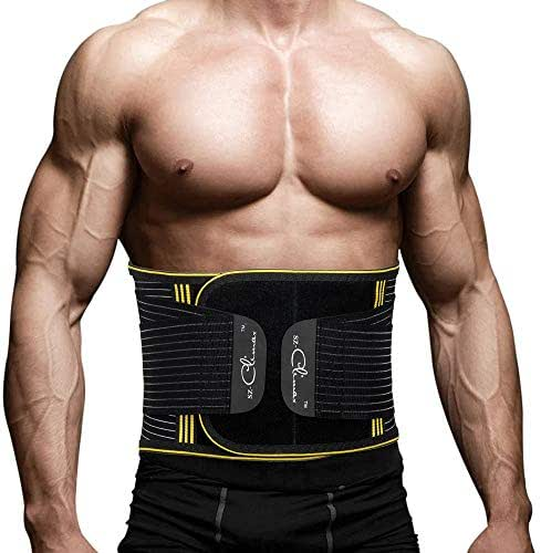 SZ-Climax Lumbar Back Brace Support Belt, Lumbar Back Protector, Waist Trainer, Posture Corrector for Back Pain Relief, Sciatica, Scoliosis, for Men Women with Removable Metal Spring Strip