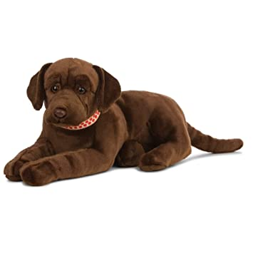 Living Nature - Peluche Gigante para Perro Labrador, Color marrón Chocolate (60 cm)