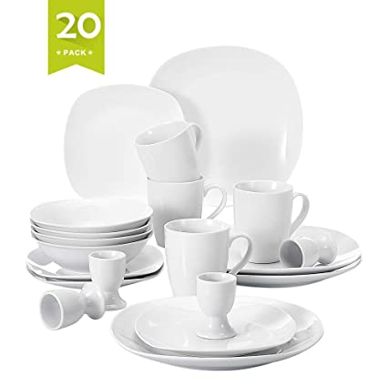 0c7062a2795b Amazon.com  Malacasa 20 Piece Porcelain Dinnerware Set
