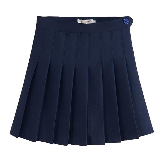 Yying Faldas de Escuela de Tenis para niñas Mini Faldas Plisadas ...