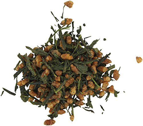 (Teas Unique 2019 Japanese Kyoto-Nara Genmaicha Green Tea with Roasted Brown Rice, 250g)