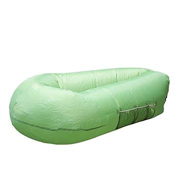 Tumbona portátil Inflable sofá Cama Saco de Dormir Camping Tienda de campaña Cuna para Interior al Aire Libre Playa Parque de atrás Piscina, ...