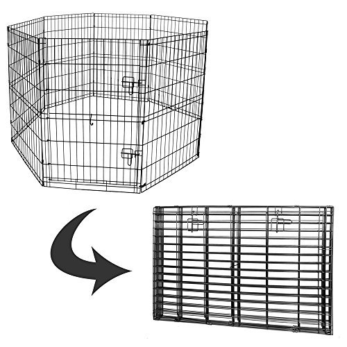 BV Pet 30'' H Foldable Exercise Pen/Dog Playpen, 8 Panels with Single Door