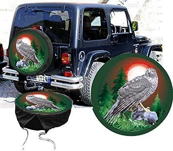 Funda para rueda de repuesto protectora Wild Diseño Halcón Caza-Fans para su Jeep: Amazon.es: Coche y moto