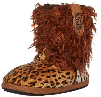 Cowboy Kickers Wollige Cheeta Pantoffels Voor Dames L / 8-9
