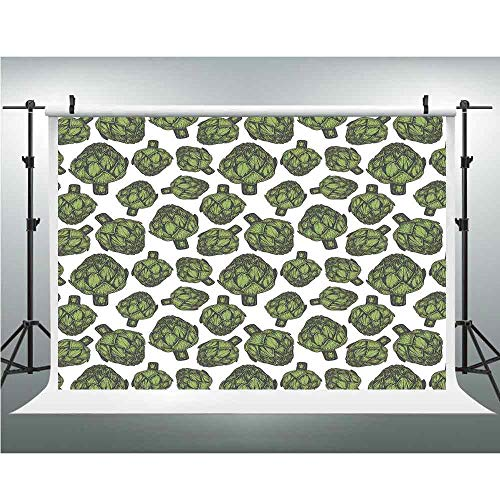 Background Photography Backdrop Studio Photo Props,Artichoke,10x10ft,Detailed Drawing of Super Foods Fresh Vitamin Sources Natural Nutrition Source