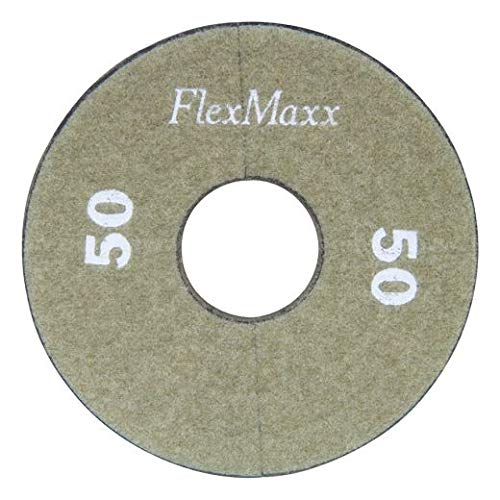 FlexMaxx 5‑Inch Concrete Polishing Pads, Medium Coarse, 50 Grit (3 Units)