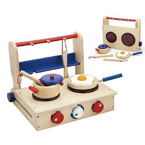 Viga Wooden Foldable Cooker Play Set #50301 by Viga by Viga 50000