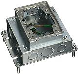 Hubbell BA2421 1 Gang Rectangular Steel Floor Box, Shallow, Fully Adjustable, Aluminum