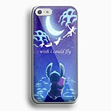 Stitch Peter Pan i wish i could fly for iPhone 5c White case