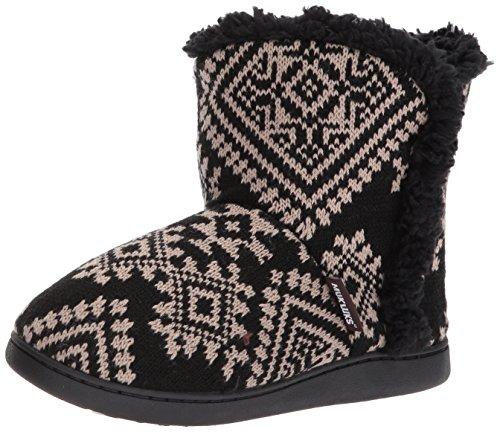 Muk Luks Dames Cheyenne Zwart Slipper Zwart