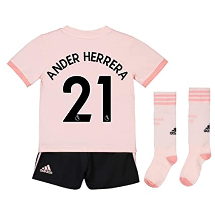23dd4d42c Image Unavailable. Image not available for. Color  UKSoccershop 2018-19 Man  Utd Away Mini Kit (Ander Herrera 21)