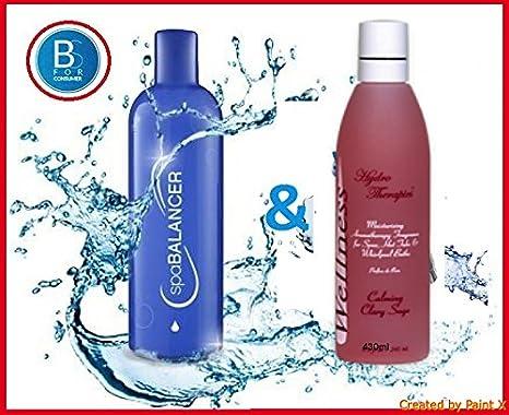 spabalan cer 750 ml y wellness Aroma 245 ml Libre de cloro Set Cuidado Agua para Whirlpool | exterior Pool | hottube | hidromasaje baño: Amazon.es: Jardín