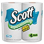 KIMBERLY-CLARK PROFESSIONAL* SCOTT Rapid Dissolving Tissue, 1-Ply, 264 Sheets - Includes four rolls of 264 sheets each.