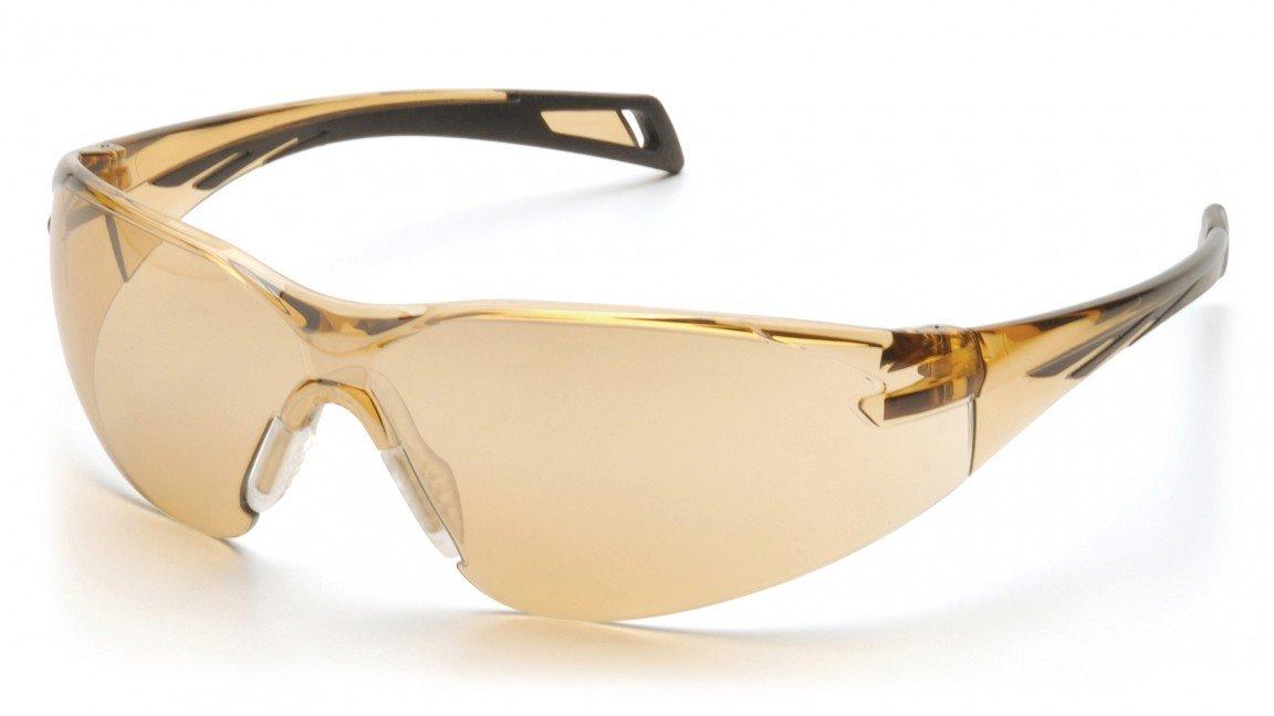 (12 Pair) Pyramex PMXSLIM Glasses Black Temples/Bronze Lens (SB7138S) by Pyramex Safety