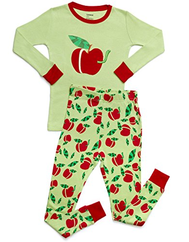 Price comparison product image Leveret Organic Cotton Apple 2 Piece Pajama Set 10 Years