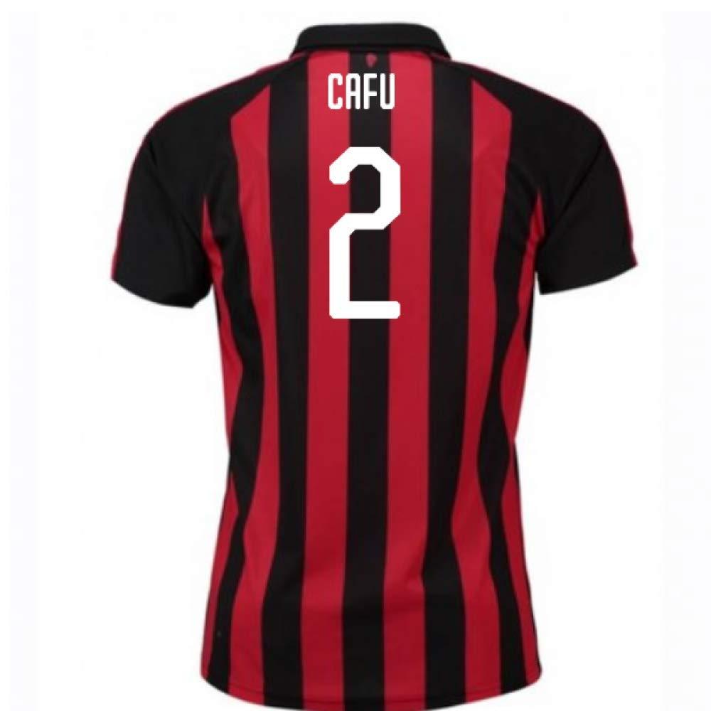 2018-2019 AC Milan Puma Home Football Soccer T-Shirt Trikot (Cafu 2)