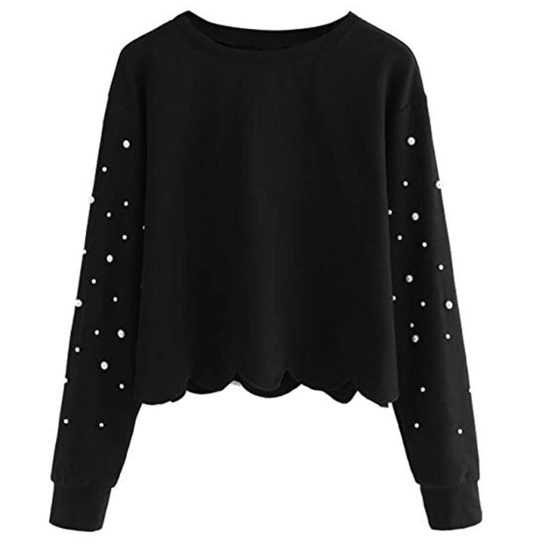 L Grau QRYCN Damen Sweatshirt Herbst Frauen Sweatshirt Lange