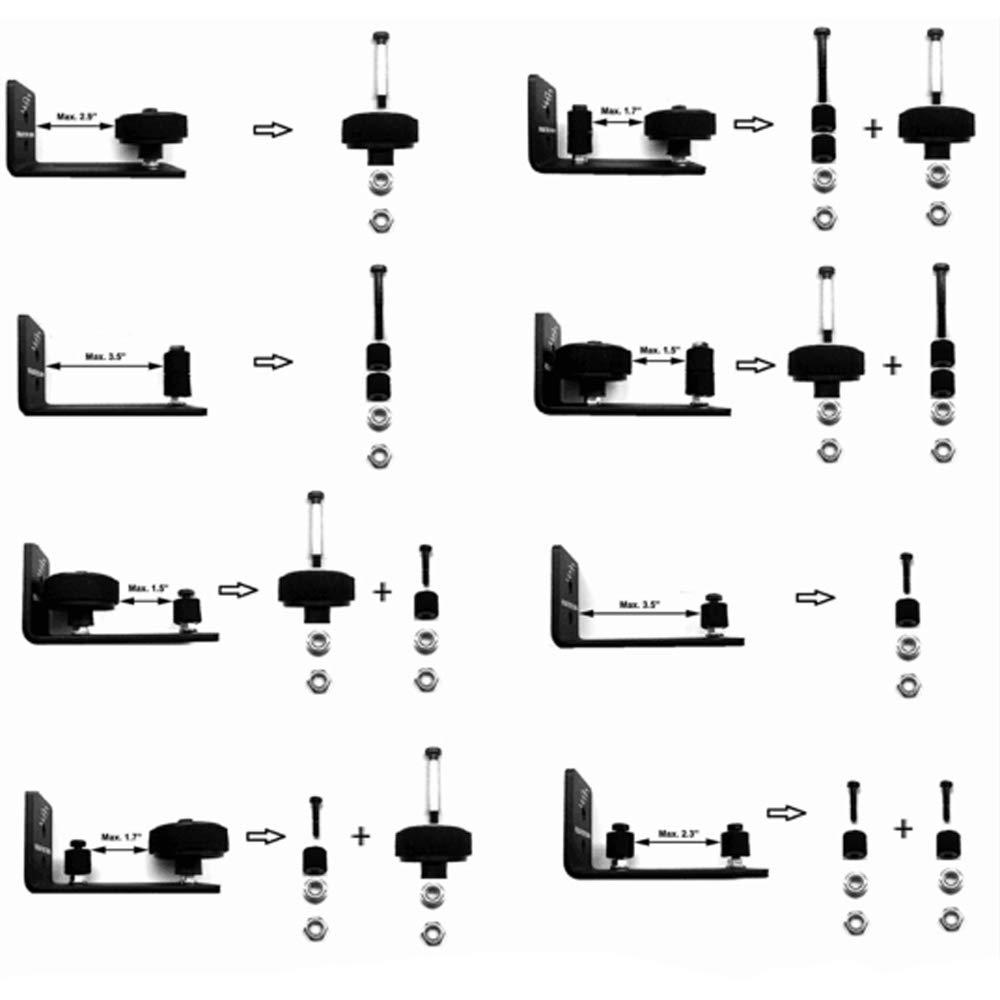 COOLOGIN Barn Door Floor Guide Stay Roller,Adjustable Bottom Guide Floor Sliding Bottom Stay Roller with 8 in One Setups TONGYI