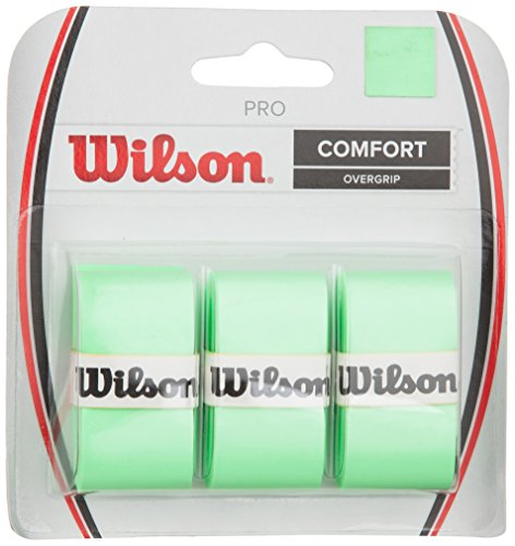 Wilson Tennis Racquet Pro Over Grip, Green, Pack of 3