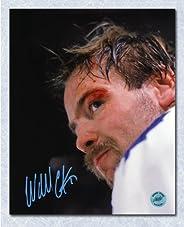 Wendel Clark Toronto Maple Leafs Autographed Bloody Warrior 8x10 Photo
