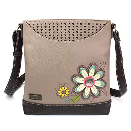 Chala Sweet Messenger Tote Bag Daisy - Warm Gray