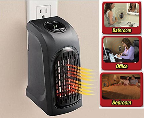 New Digital Display Portable Wall-Outlet Handy Heater 110-220V 400W 15°C~32°C Plug-In Smart Space Auto Shut-off Heater Fast Delivery!