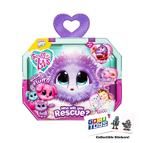 Scruff a Luvs Purple Rescue Toy Pet Dog, Cat or Rabbit Worlds Apart
