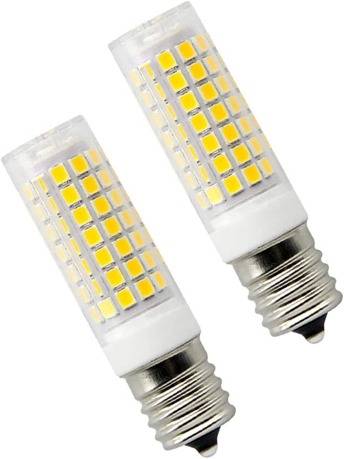 8W Dimmable LED E17 Microwave Oven Bulb - Intermediate Base LED Appliance Light, Daylight 6000K 100W Halogen Equivalent Under-Microwave Stove Light (2-Pack): Home Improvement