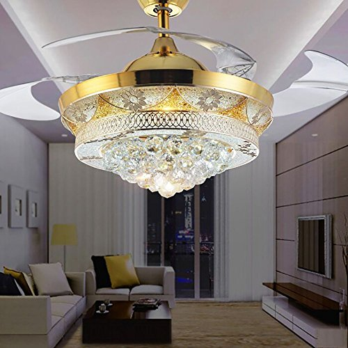 Bedroom Lighting Amazon Bedroom Cabinet Color Ideas Wall Decor Ideas For Bedroom Pinterest Bedroom Lighting Design Pictures: COLORLED Modern Crystal Gold Ceiling Fan Light Kit For