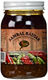 Runel Sambal Badjak (Gebakken Hete Sambal/fried Hot Chilli Paste) Red Pepper Paste with Onion 16 Oz in a Box