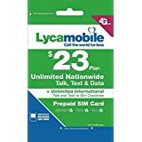 Lycamobile Preloaded Sim Card with $23 Plan Plan - 1 month