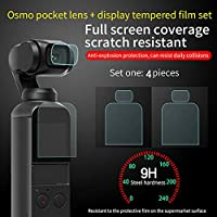 Best Accessory for DJI OSMO Pocket!!!Natarura 4PCS 9H Tempered Glass Screen Protector Film Full Coverage for DJI OSMO Pocket