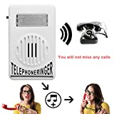 Telephone Phone Amplifier,Bagvhandbagro Socket Loud Telephone Ring Speaker,12V Ringtone Amplifier for Landline Telephone