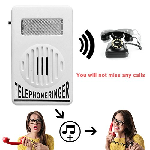 Telephone Phone Amplifier,Bagvhandbagro Socket Loud Telephone Ring Speaker,12V Ringtone Amplifier for Landline -