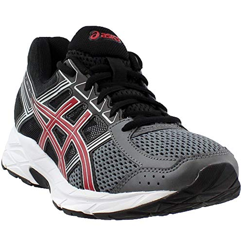 Gel Runners Asics (ASICS Mens Gel-Contend 4 Running Shoe, Carbon/Classic Red/Black, 14 Medium US)