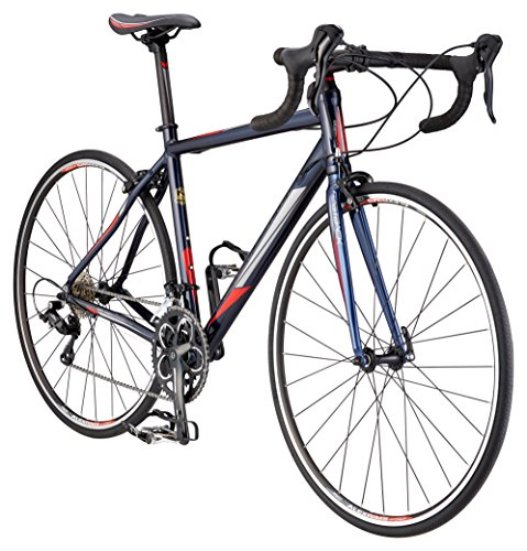 - Schwinn Fastback 2 Performance Road Bike for Beginner to Intermediate Riders, Featuring 55cm/Large Aluminum Frame, Carbon Fiber Fork, Shimano Sora 18-Speed Drivetrain, and 700c Wheels, Navy Blue