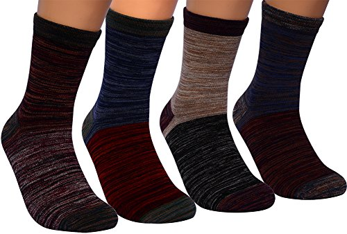 Mens Dress Socks,4 Pairs Colorful Combed Cotton...