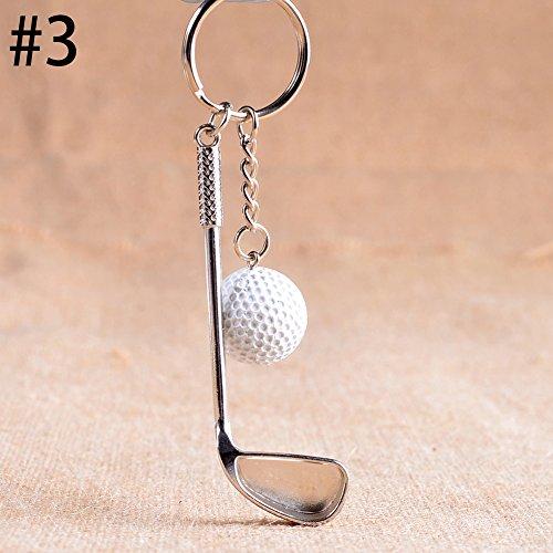 Taloyer Creative Metal Golf Ball Key Chain Bag