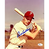 Richie Ashburn Autographed 8 Inches by 10 inches Veritcal With Bat Photo JSA Authenticated