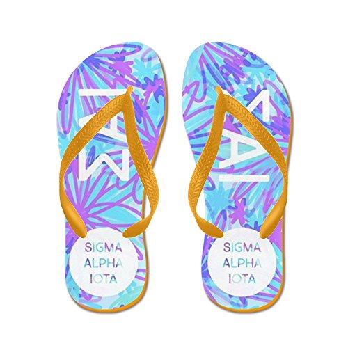 Cafepress Sigma Alpha Iota Tropisch Paars - Flip Flops, Grappige String Sandalen, Strand Sandalen Oranje