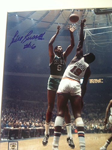 Autographed Bill Russell 8x10 Photo Framed and Matted PSA/DNA (Bill Russell Autographed Photograph)