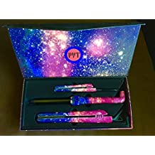 "PYT Lola Styling Tools Set - Galaxy Design (Includes 1.25"" Ceramic Straightener, Mini Flat Iron & Curling Wand)"
