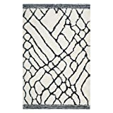 Safavieh Toronto Shag Collection SGT722K Ivory and Blue Handmade Area Rug (5′ x 8′) Review