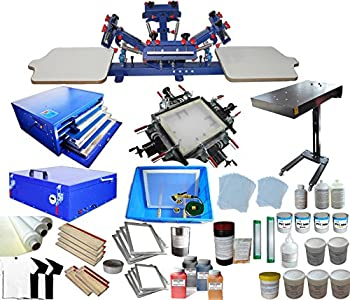 Screen Printing Kit 4 Color 2 Station Machine
