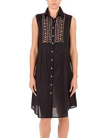Amazon.com: Iconique IC7 – 030 Mujer Negro azteca bordado ...