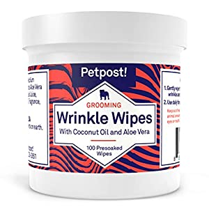 Petpost | Bulldog Wrinkle Wipes for Dogs - Cleans and Soothes Pug Wrinkles and Folds - 100 Ultra Soft Cotton Pads in Coconut Oil Solution 11