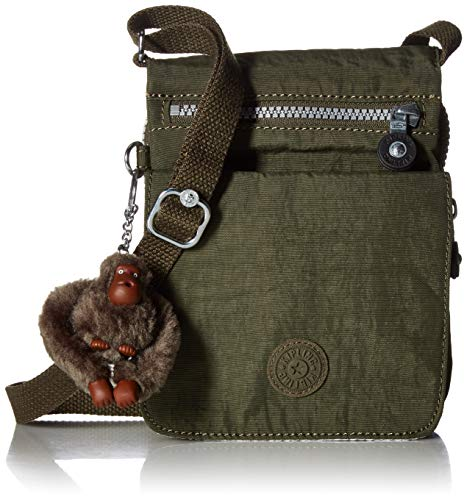Kipling El Dorado Crossbody Bag, Essential Travel Accessory, Jaded Green