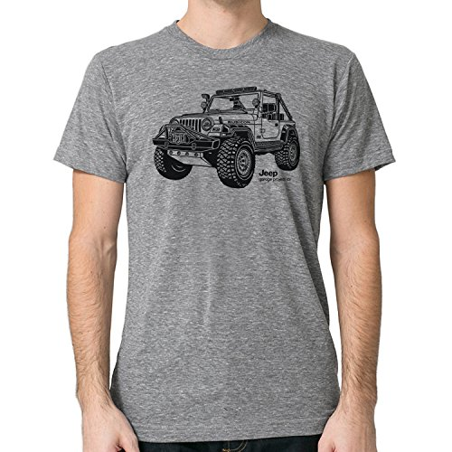 Garageproject101 Jeep Wrangler Rubicon T Shirt L Gray